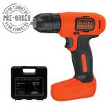 Black Decker Bdcd8K B1 Cordless Drill Kit Set Mesin Bor Obeng Elektrik 7 2V Asli