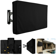 Black Waterproof Oxford Outdoor TV Protector Cover untuk 60-65 Inch Televisi-Intl