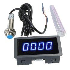 Harga Biru 4 Digital Memimpin Takometer Rpm Juga Meteran Kecepatan Saklar Sensor Kedekatan Npn Asli