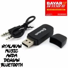 Bluetooth Music Receiver USB Audio Dongle 3.5mm - Hitam