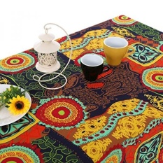 Bohemia Mediterranean Style Tablecloths/Table Cloth Retro Colorful Floral Table Cover for Dining Table,Furniture Cover for Home Decor,55x86 - intl