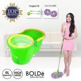 Bolde Super Mop Original Alat Pel Lantai Otomatis 168 Plus Botol Sabun dan Extra 1 Refill - Biru Tosca | Lazada Indonesia