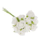 Harga Bolehdeals 100 Buah Buket Bunga Mawar Mini Buatan Rumah Dekorasi Hiasan Pernikahan Putih Murah