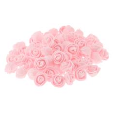 Beli Bolehdeals 100 X Plastik Pe Mawar Kepala Bunga Buatan Pesta Hadiah Pengantin Dekorasi 45 Gelap Tiongkok