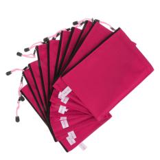 BolehDeals 10 Buah A5 Ukuran Naik Merah Tas Berkas Dokumen Terkunci Daftar Harga