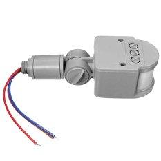 BolehDeals 12 M PIR Sensor Gerak Infra Merah Detektor Lampu LED Kolam Rancangan RF Ac85v ~ 265 V Kelabu