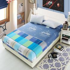Perbandingan Harga Bolehdeals 150X200Cm Bed Sheet Fitted Bedspread Mattress Bedding Cloth Cover Quilt 8 Intl Di Tiongkok