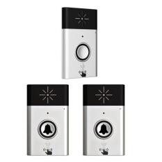 Bolehdeals 200M Wireless Doorbell Chime With Voice Intercom 2 Transmitters 1 Receiver Intl Asli