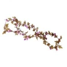 Bolehdeals 2x Bunga Sutra Buatan Palsu Rose Ivy Daun Merambat Dekorasi  Gantung Ungu-Intl 6e1a436530