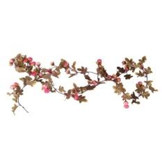 Bolehdeals 2x Bunga Sutra Buatan Palsu Rose Ivy Daun Merambat Dekorasi  Gantung Mawar Merah-Intl 9827c15c20