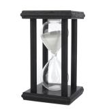Ulasan Bolehdeals Jam Pasir Dari Kayu Hitungan 30 Minutes For Hadiah Dekorasi Putih