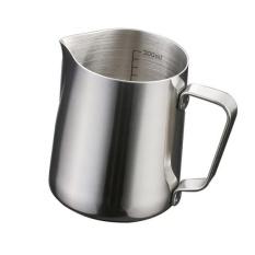 Harga Bolehdeals 350Ml Kitchen Stainless Steel Coffee Frothing Milk Tea Latte Jug With Scale Intl Bolehdeals Baru