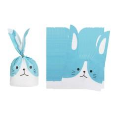 BolehDeals 50 Pcs/lot Lucu Rabbit Kelinci Kucing Hadiah Tas Toko Roti Kue Kering Treat Tas Pernikahan Ulang Tahun Bayi Pancuran Anak-anak Pesta Kebaikan merah Muda/Biru-Internasional