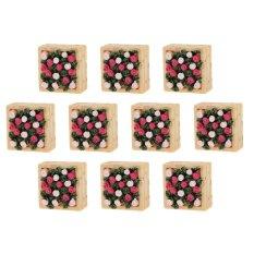 BolehDeals 10 X Dekorasi Miniatur Rumah Boneka Bonsai Peri Pemandangan Kebun Katil Kotak Bunga