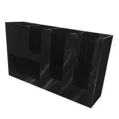 Spesifikasi Bolehdeals Coffee Paper Cup Lid Holder Dispenser Organizer Drink Stand Buffet Black Intl Terbaik
