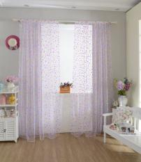 Jual Bolehdeals Colorful Dot Room Window Voile Tirai Panel Organdi Home Decor Ungu Lengkap