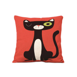 Model Bolehdeals Sprei Katun Case Bantal Menutupi Pinggang Lempar Kucing Ninja Dekorasi Multi 2 International Terbaru