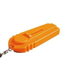 BolehDeals Topi Terbang Pembuka Botol Cap Launcher Fancy Bir Pembuka dengan Key Ring Orange-Intl