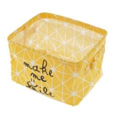BolehDeals Lipat Keranjang Penyimpanan Mainan Pakaian Bucket Laundry Hamper Makeup Kotak Kuning-Internasional