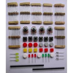 BolehDeals General package electronic components LED transistors Capacitors breadboard