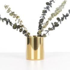 Cuci Gudang Bolehdeals Emas Kuningan Vas Bunga Pen Holder Desktop Penyimpanan Wadah Tabung Ornamen Silinder Segi Enam Internasional