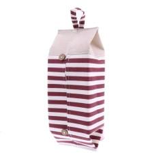Bolehdeals Linen Tisu Kotak Kertas Toilet Kamar Mandi Serbet Pemegang Kasus Penyimpanan Tas-Merah-