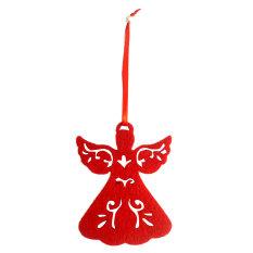 BolehDeals Pak 12 Pohon Natal Malaikat Ornamen Dekorasi Yang Digantung 9 Warnd 11 Cm X 7.8 CM