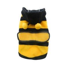 BolehDeals Pakaian Jaket Hoodie Hewan Peliharaan Kucing Anjing Kostum Bee Baju Kostum S