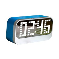Toko Bolehdeals Portable Mirror Alarm Clock Calendar Night Light Digital Alarm Clock Blue Intl Terlengkap