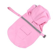 BolehDeals Reflektif Hujan Anjing Jaket Mantel Hujan Ponco Jas Hujan Berkerudung Pink-S-INTL