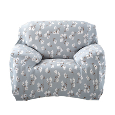 BolehDeals Single Sofa kursi sarung karet penutup dicuci Slip Cover6 - Internasional