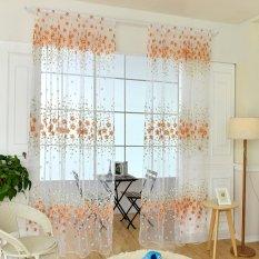 Harga Bolehdeals Bunga Panel Jendela Tirai Gorden Benang Kelambu Syal Tipis Dekorasi Rumah Jeruk Yang Bagus