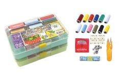 Beli Bonbon Set Perlengkapan Jahit Sewing Tool Kotak Penyimpanan Multifungsi 2Pcs Online Terpercaya