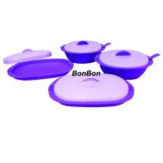Toko Bonbon Verona 4Pcs Wadah Saji Eksklusif Ungu Bonbon