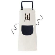 Tulang Prasasti Cina Nama Karakter Zhou Memasak Dapur Beige Adjustable Bib Apron Saku Women Pria Chef Hadiah-Intl