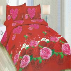 Bonita Bedcover King 3D Motif Lovely Rose - 180x200 cm