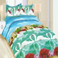 Daftar Harga Bonita Bedcover King 3D Motif Romantic Swan 180X200 Cm Bonita