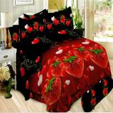 Jual Bonita Sprei King 180X200 Cm Motif Red Strawberry Indonesia