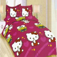 Bonita Sprei Single 120X200 Cm Motif Hello Kitty And Keroppi Diskon Akhir Tahun