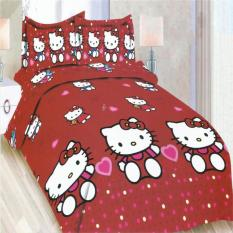 Toko Bonita Sprei Single 120X200 Cm Motif Hello Kitty Red Lengkap