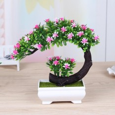 Beli Bonsai Tree Square Pot Buatan Planter Tanaman Flower Office Home Garden Decor Pink Intl Online