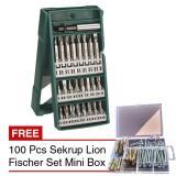 Ulasan Lengkap Bosch 25 Pcs Mini X Line Mata Bor Obeng 100 Pcs Sekrup Fischer