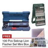Bosch Go Bor Baterai Cordless Drill 25 Pcs X Line Mata Obeng Mk 01 Promo Beli 1 Gratis 1