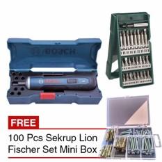 Tips Beli Bosch Go Bor Baterai Cordless Drill 25 Pcs X Line Mata Obeng Mk 01