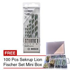 Ulasan Tentang Bosch Mata Bor Multipurpose Besi Beton 5 Pcs 100 Pcs Sekrup Fischer