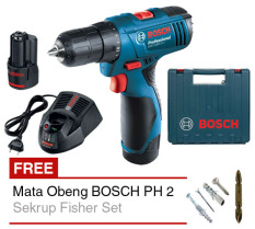 Review Terbaik Bosch Mesin Bor Cordless Gsr 1080 2 Li Professional Gratis Mata Obeng Bosch Ph 2 Gold Sekrup Fisher