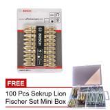 Review Bosch Ph 2 Gold 65 Mm 10 Pcs Mata Bor Obeng 100 Pcs Sekrup Fischer Di Jawa Barat