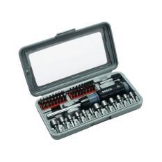 Jual Bosch Satu Set Mata Obeng Dan Mata Kunci Obeng 46 Piece Grey Screwdriver Set 46 Each Set 2607019504 Baru