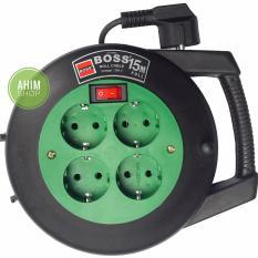 Toko Boss® 15 Meter Kabel Roll Box 4 Lubang Stop Kontak Saklar On Off Green Yang Bisa Kredit