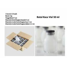 Spesifikasi Botol Asi Kaca Vial 50Ml 12Pc Lengkap